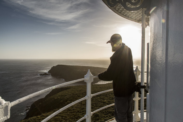 Cape Bruny Lighthouse Tours overlooking the Tasman Sea. One of the last Wild Places on Bruny Island